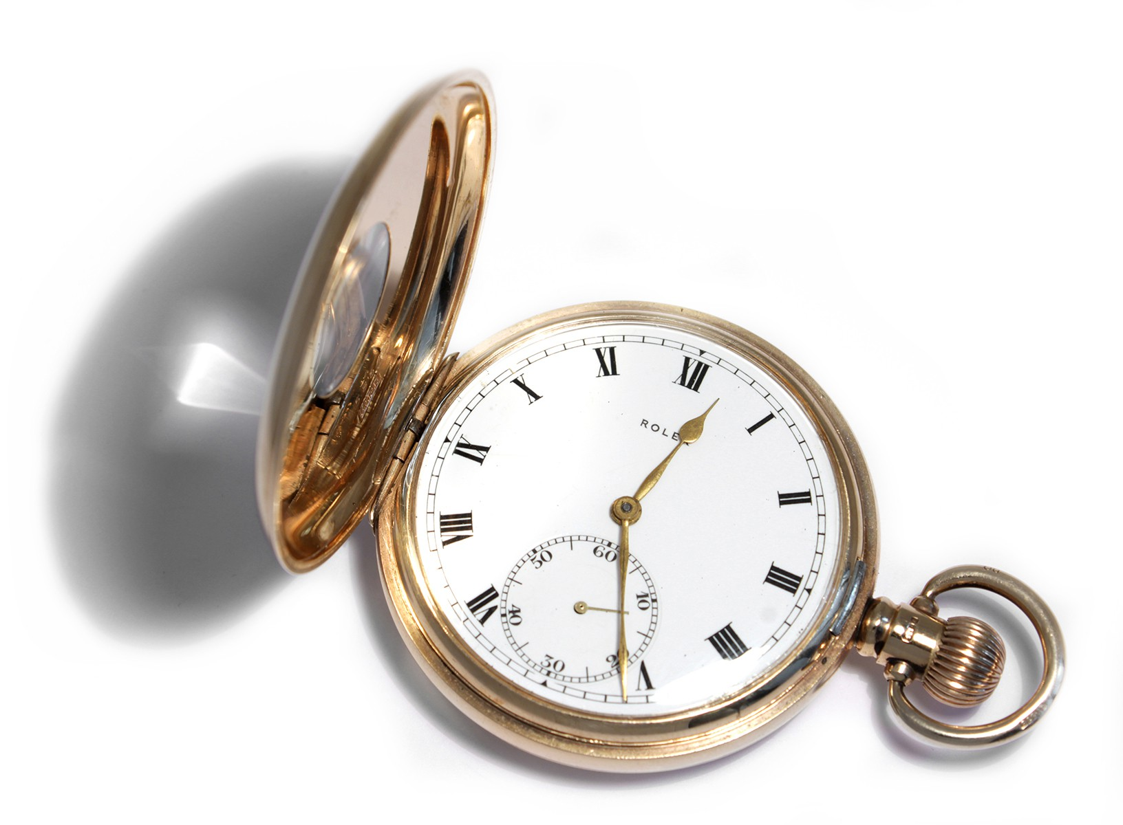 Antike taschenuhr  Antike ROLEX TASCHENUHR von 1948: 9ct Gold Roségold HTU UHR TU ...