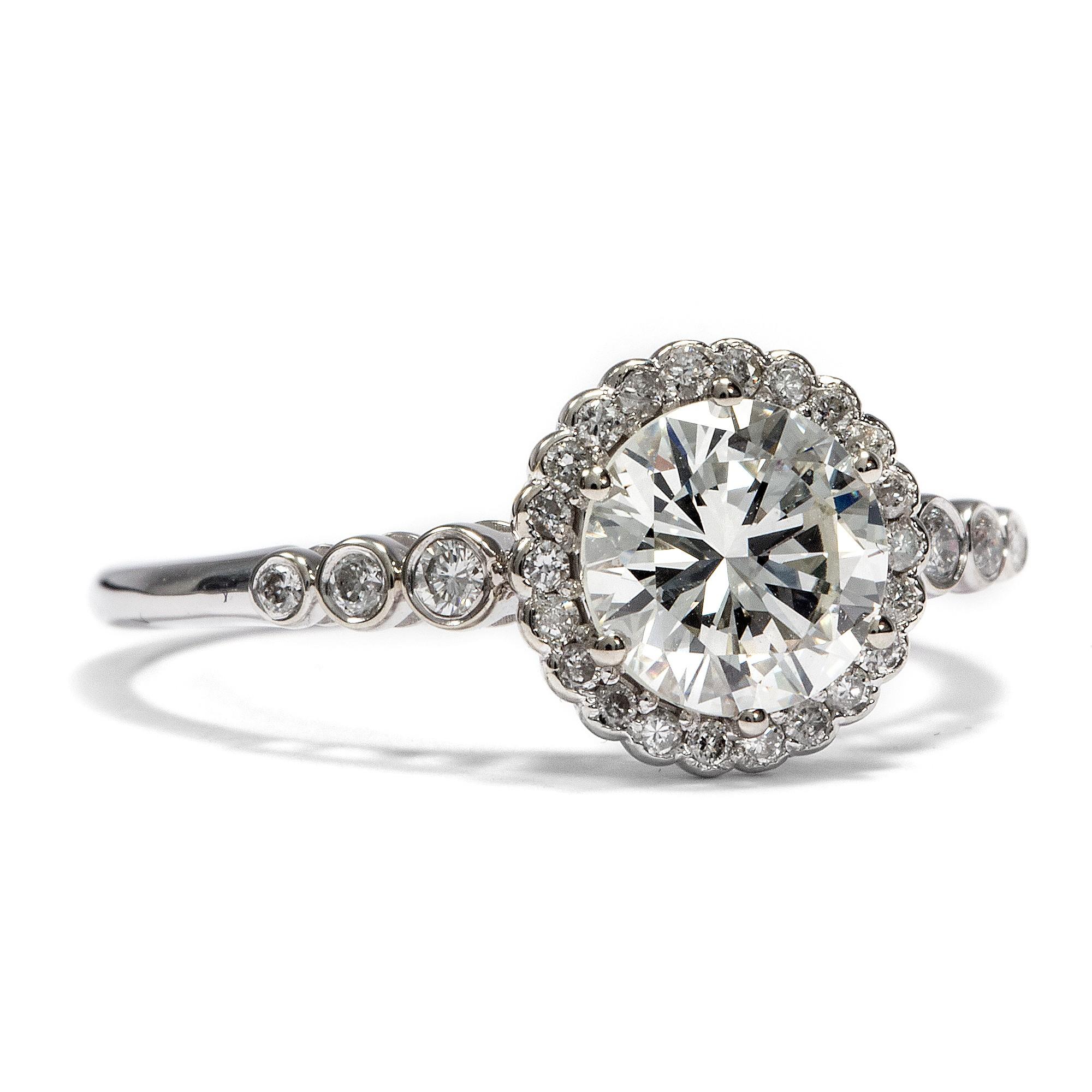 1 0 ct diamant solit r ring in 585 wei gold einkar ter brillant verlobungsring ebay. Black Bedroom Furniture Sets. Home Design Ideas